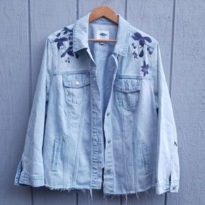 Old Navy Embroidered Denim Jacket